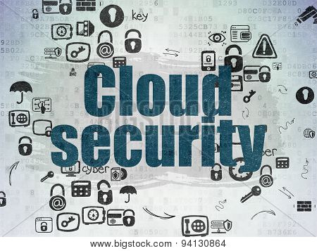 Security concept: Cloud Security on Digital Paper background