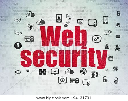 Security concept: Web Security on Digital Paper background