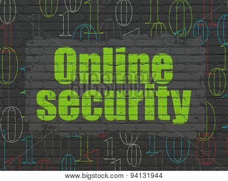 Safety concept: Online Security on wall background