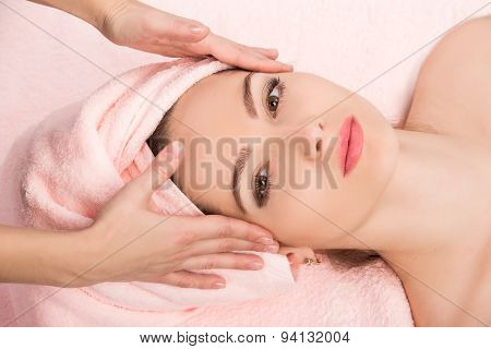 Woman Receiving  Spa