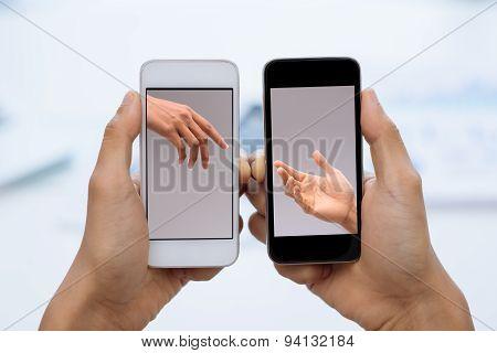 Communication via smartphones