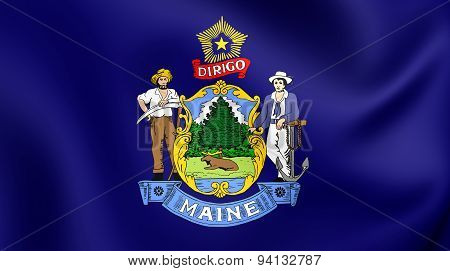 Flag Of The Maine, Usa.