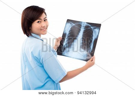 Holding Chest X-ray