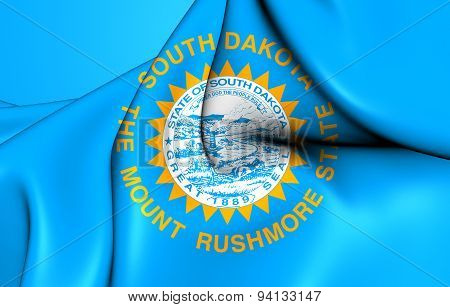 Flag Of The South Dakota, Usa.