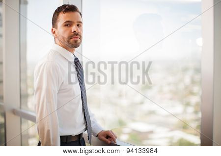 Confident Businessman In An Office