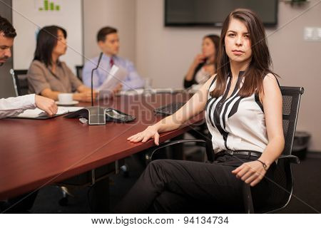 Serious Female Lawyer At Work