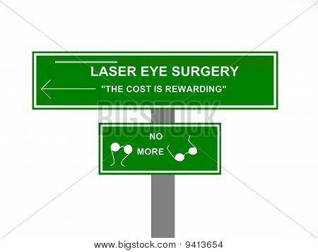 Laser Eye Surgery Sign