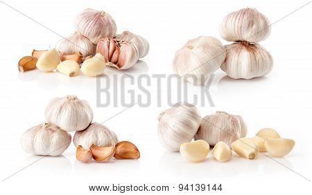 composite of fresh garlic