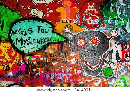 John Lennon Wall In Prague, Famous Tourist Sightseeing