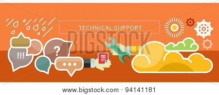 Technical Support Concept for Banner, Presentation
