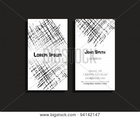 Business cards or flyer for company, corporate identity.