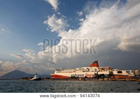 Port in Patras.