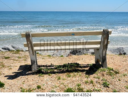 Bench Chair at Beach