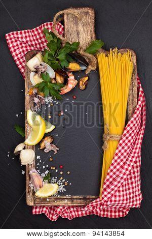 Mediterranean Food. Pasta.