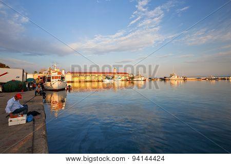 Fishermen in Patras.