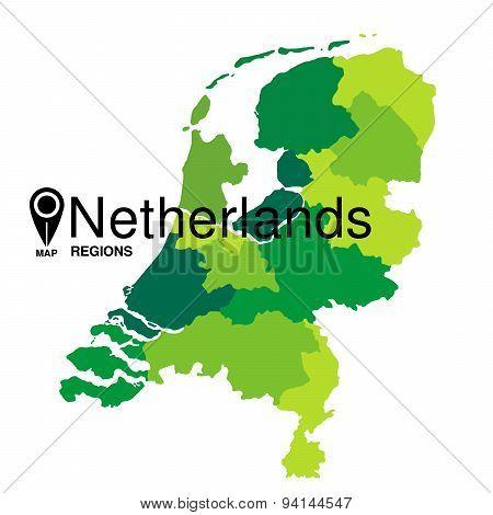 Netherlands karte green Map