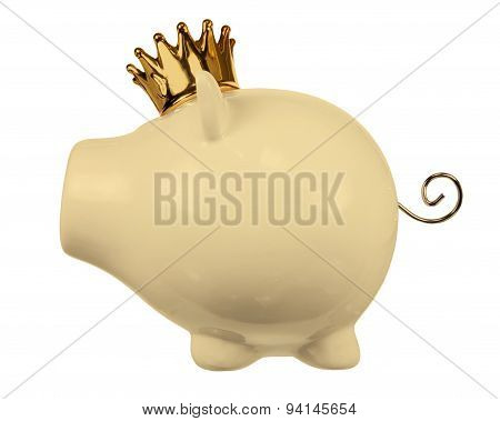 Piggy Bank With Crown