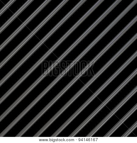 Metal Bars On A Black Background.3D