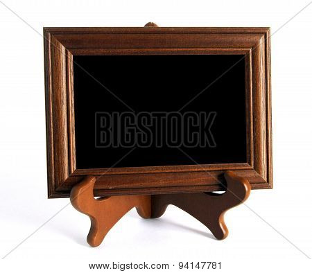 Wooden Stand With Picture Frame