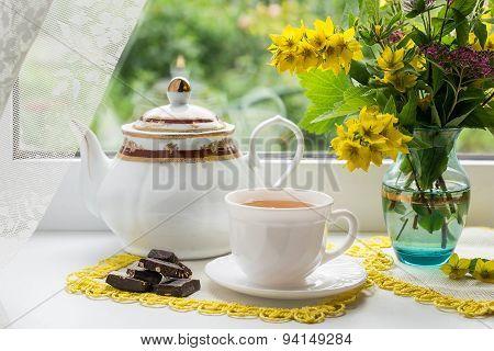 Morning Tea Near The Window