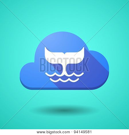 Cloud Icon With A Whale Tail