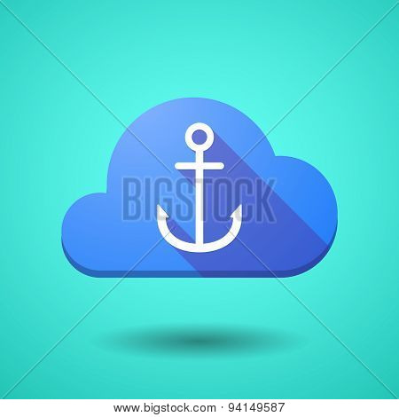 Cloud Icon With An Anchor