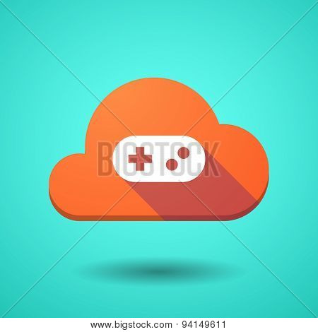Cloud Icon With A Game Pad