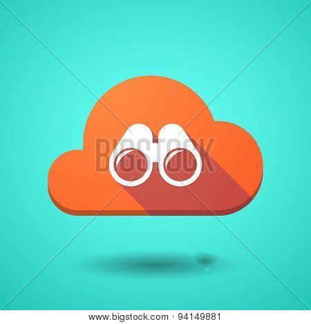 Cloud Icon With A Binoculars