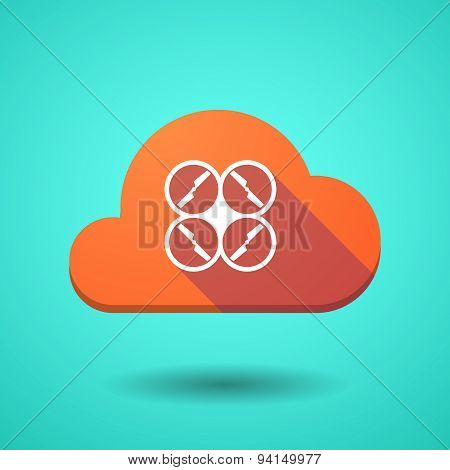 Cloud Icon With A Drone