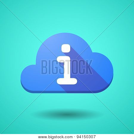 Cloud Icon With An Info Sign