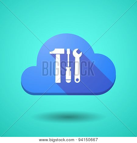 Cloud Icon With A Tool Set