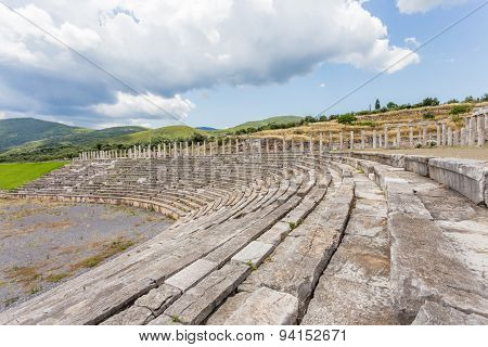 antique stadium in Ancient Messina,  Greece