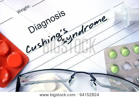 Diagnosis Cushings syndrome and pills.