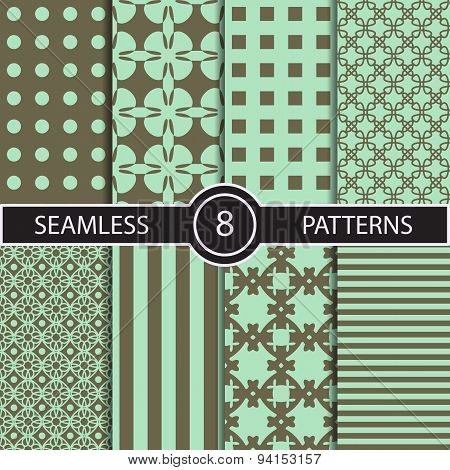 Set of vector seamless abstract pattern