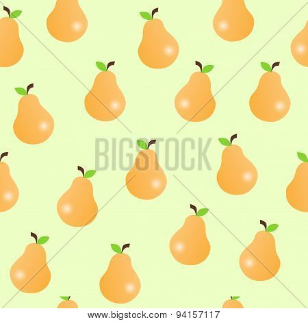 Seamless pattern of pears