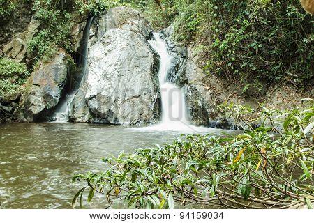 Mae-haad Waterfall; Huai Nam Dang National Park At Wiang-haeng,chiangmai, Thailand