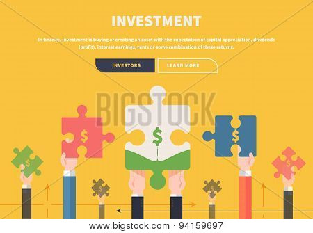 Concept Business. Attraction of Investments