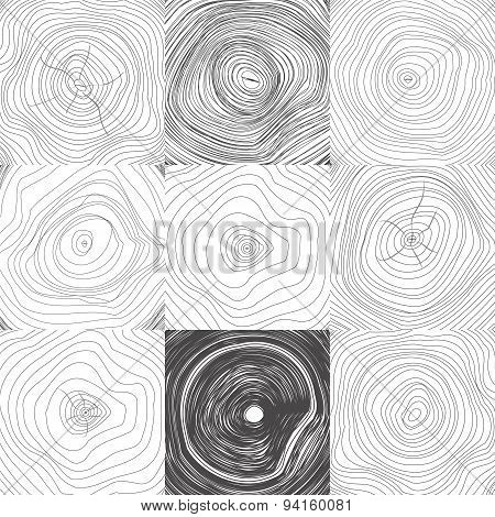 Collection of Backgrounds Tree Rings