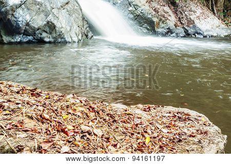 Autumn Colors Of Mae Haad Waterfall, Located At Huai Nam Dang National Park , Wiang-Haeng,Chiang Mai