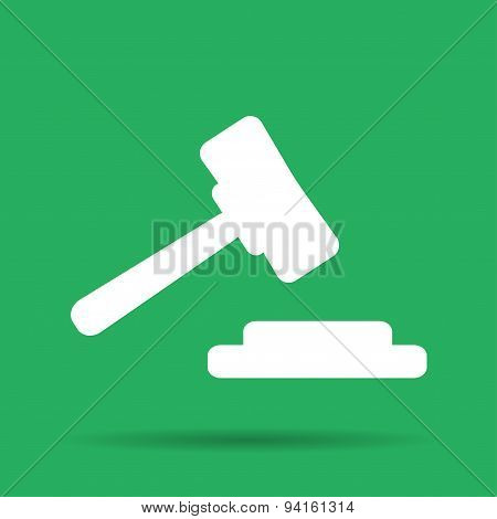 Auction Web Icon. Vector Design