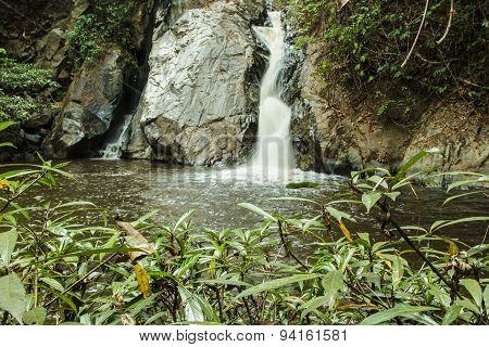 Mae-haad Waterfall; Huai Nam Dang National Park At Wiang-Haeng,Chiang Mai, Thailand.