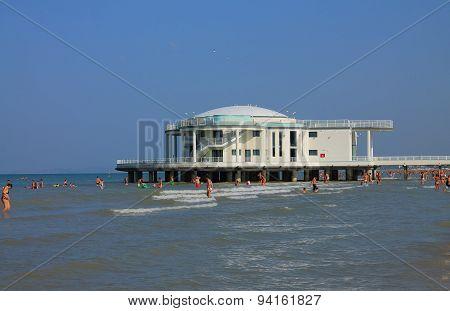 Beach of Senigallia with