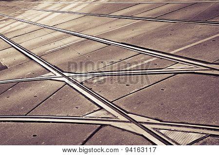 Detail Of A Tramway (wien - Austria)