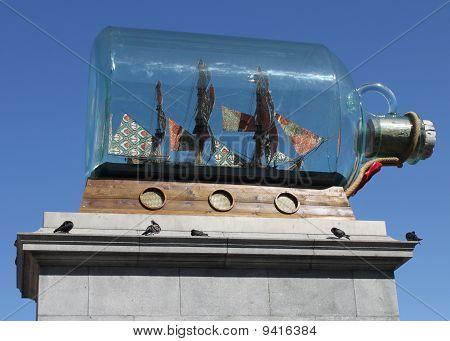 Giant ship in a bottle