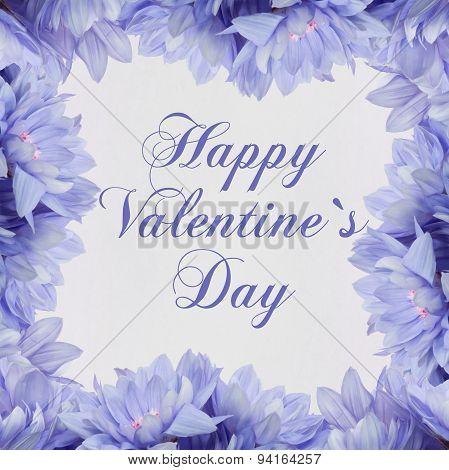 Happy valentine`s day - flower decoration card