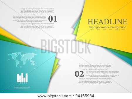 Bright corporate abstract contrast background. Vector design