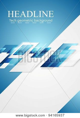 Blue grey shiny hi-tech motion background. Vector illustration template