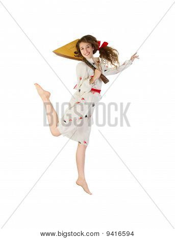 Pretty Girl With Balalaika