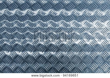 Iindustrial Diamond Plate Relief Pattern Blue Toned