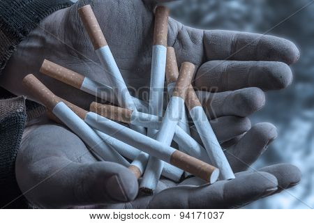 Many Cigarettes In Their Hands